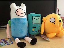 3pcs/set Adventure Time Finn Jake Beemo BMO Soft Figure Anime Plush Toy Doll