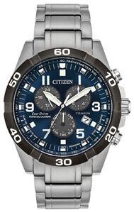 Citizen-Eco-Drive-Men-039-s-Brycen-Titanium-Chronograph-Band-43mm-Watch-BL5558-58L