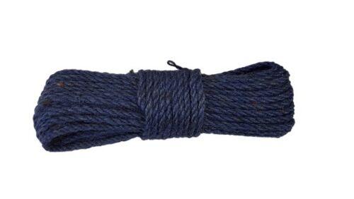 Tau fi 6mm//20 Meter BLAU JUTESEIL Naturfasern Dekoschnurr Seil