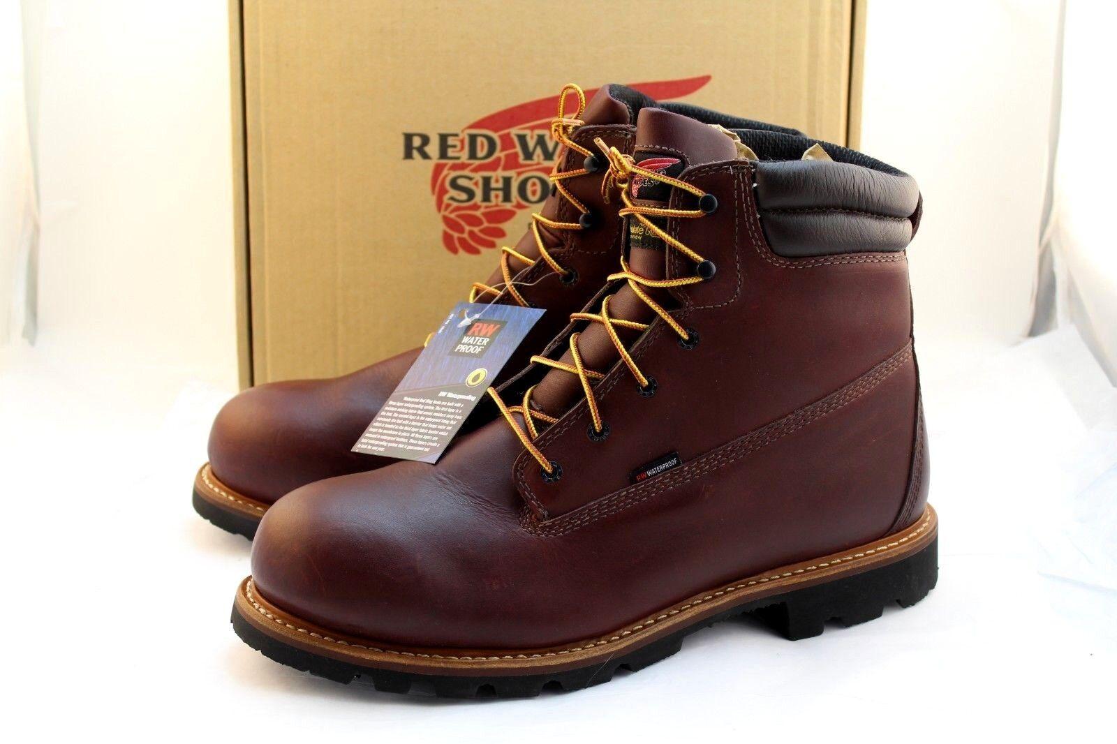 Nuevo rojo WING 1200 Tamaño D 14 Impermeable 6  EH para Hombre botas de trabajo al por menor