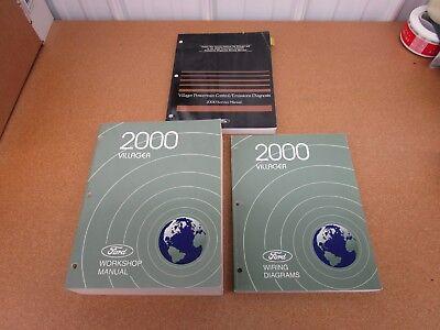 1998 Ford Mercury Villager Service Shop Manual Set 98 W EWD /& POWERTRAIN