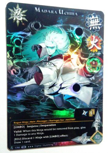 Carte Naruto Collectible Card Game CCG Foil Fancard #110 Madara Uchiha Set TP5