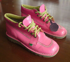 PINK SHINY KICKERS BOOTS SIZE 6 EUR 39