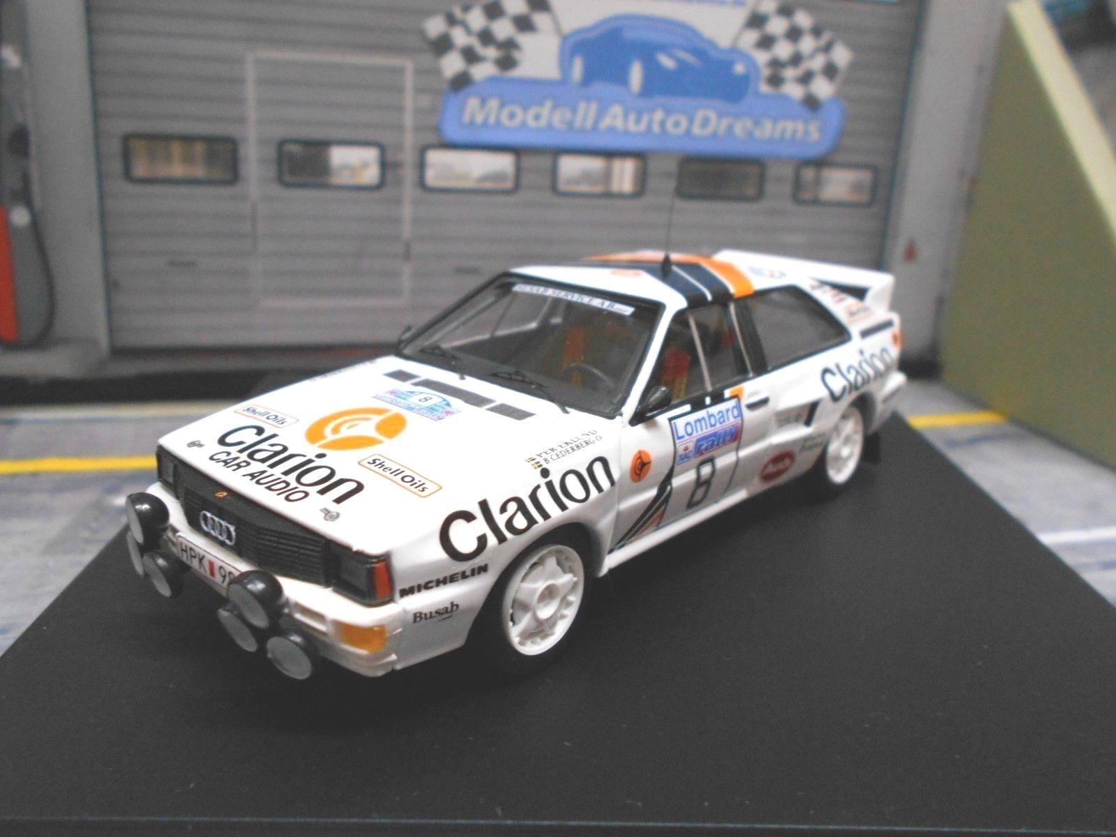 AUDI QUATTRO RALLYE RAC Go 1985  8 Eklund Cederberg Clarion 4th Trofeu 1 43