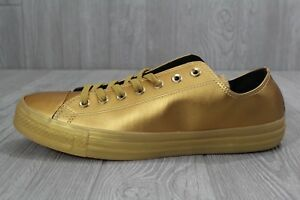404b65fb81cb 26 New Converse All Star Ox Leather Men s Gold Black Shoes 153107C 9 ...