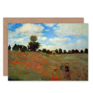 Claude-Monet-Les-Coqueliquots-Old-Master-Painting-Blank-Greeting-Card