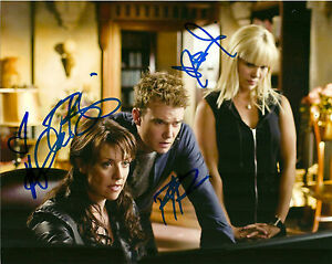 Sanctuary-Cast-photo-Tapping-Ullerup-Dunne-Autographed-Signed-8x10-Photo-COA
