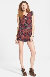 NWT-148-Free-People-039-Dahlia-Dreams-039-Sleeveless-2-Piece-Romper-SZ-0-A093
