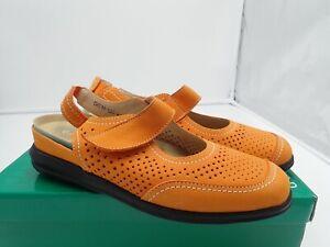 David-Tate-Clever-Leather-round-toe-Slingback-Slip-On-Women-039-s-Orange-size-7-M
