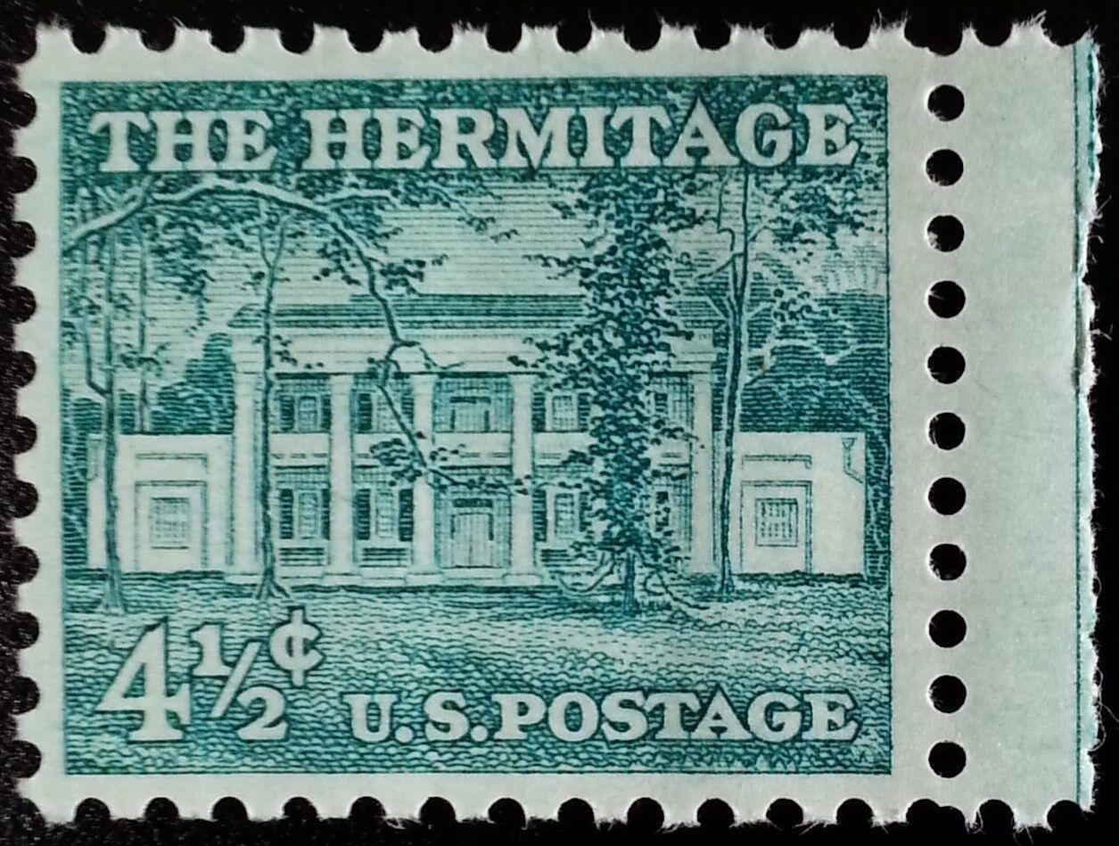1959 4 1/2c The Hermitage, Andrew Jackson Scott 1037 Mi