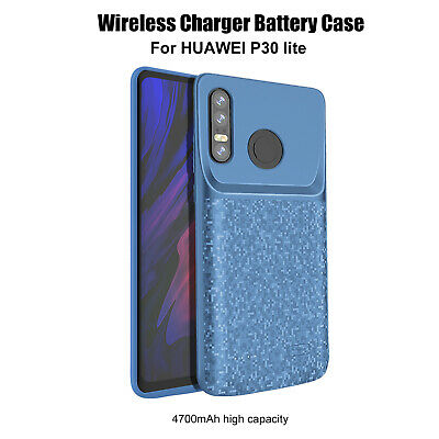 P30 Pro Charger Case 5000mAh Rechargeable Portable External Backup Thin Extended Power Bank Charging Shockproof Protective Case Black Compatible with Huawei P30 Pro Battery Case