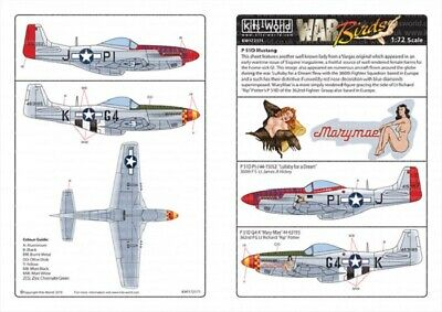 Kits World Decals 1//72 P-51 MUSTANG Fighter Mary Mae /& Lullaby for a Dream