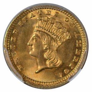 1883 $1 Gold Piece Type 3 NGC MS64