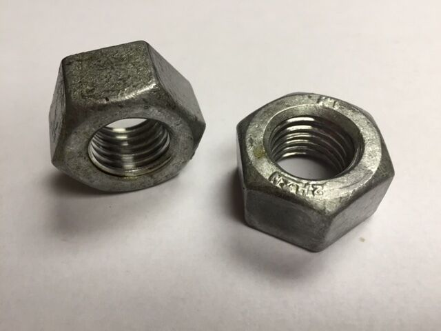 The best fasteners 50 Structural 3//8-16 Heavy Hex Nuts - Hot Dip Galvanized
