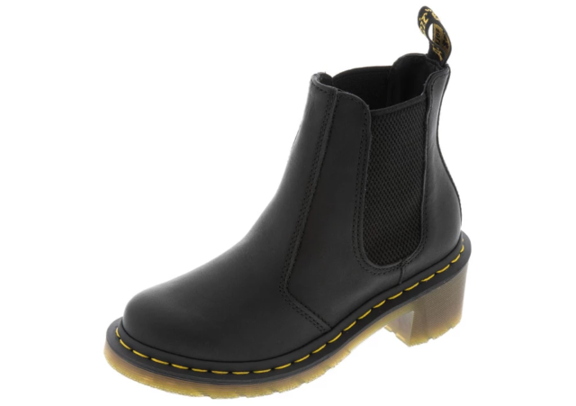 5439f450d2d Dr. Martens CADENCE BLACK GREASY Women's Leather Chelsea Boots 15283001