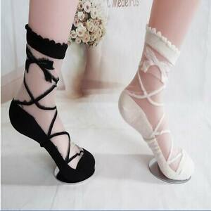 One-Pair-New-Women-Ladies-Retro-Cute-Lace-Ruffle-Frilly-Ankle-Sock