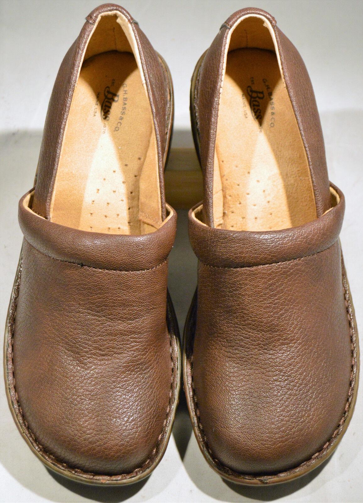 WOMEN'S Schuhe, G. H. BASS, SLIP-ONS, BROWN, SIZE 8 M