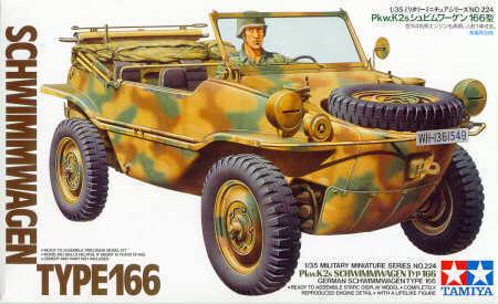 Tamiya 1//35 German Schwimmwagen Type 166 # 35224
