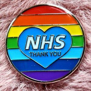 2020-NHS-Rainbow-Thank-You-Heart-Enamel-Lapel-Pin-Badge-NATIONAL-HEALTH-SERVICE