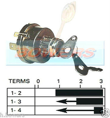 UNIVERSAL TRACTOR PLANT IGNITION SWITCH FITS MASSEY FERGUSON JCB AS LUCAS 35670