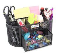 Easypag Desk Organizer Black Mesh Office School Desktop Supply Caddy With Slide on sale