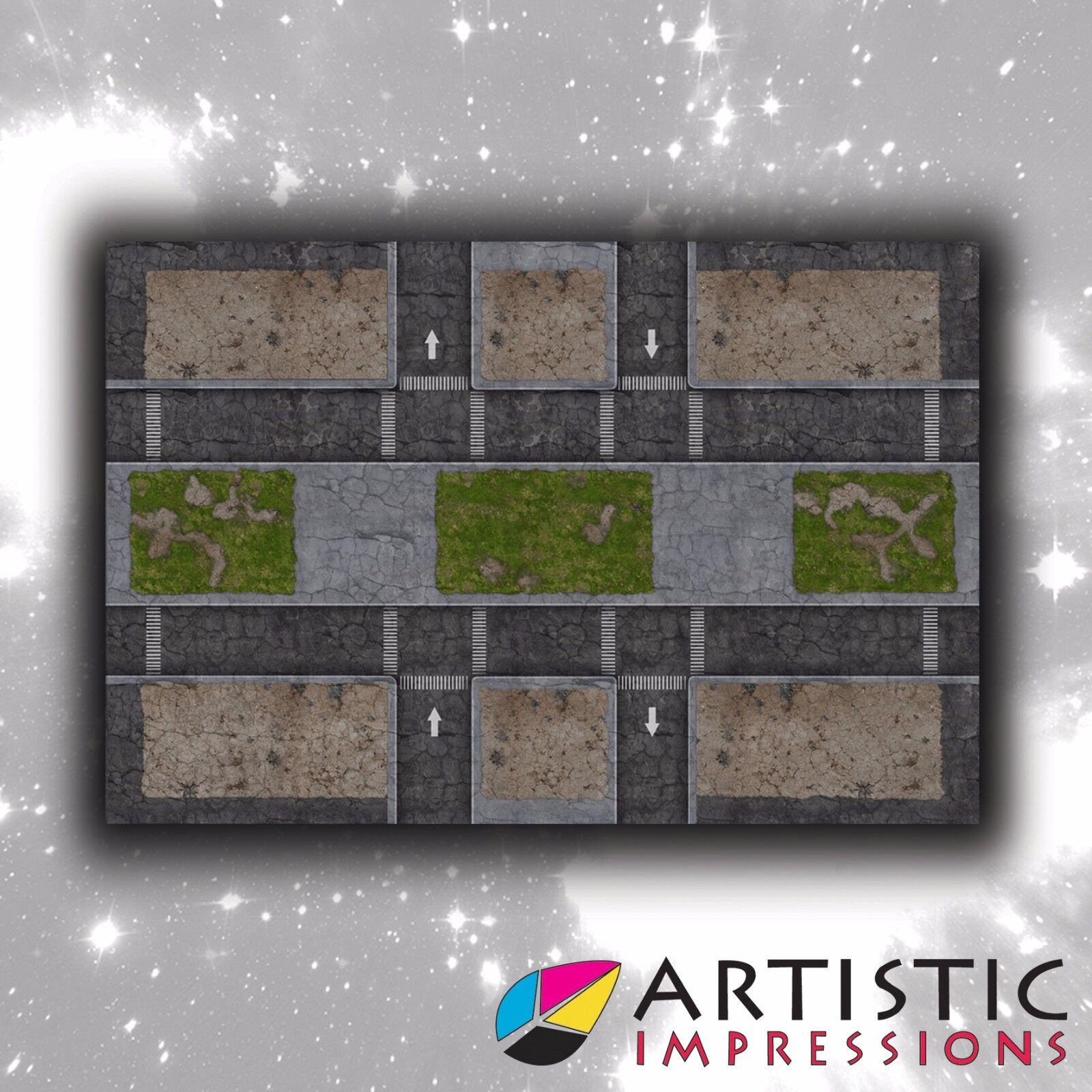 Vinyl 6x4' Urban Commando Gaming Mat - Ideal for Warhammer