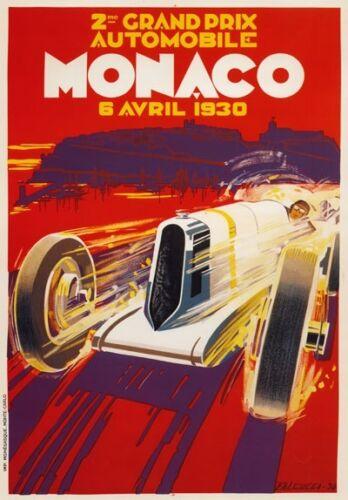 A3 Vintage High Quality Monaco Grand Prix Classic Motor Racing Retro Posters