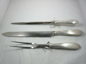 ESTATE Tiffany & Co. Sterling Silver Faneuil 3-Piece Carving Set No monograms