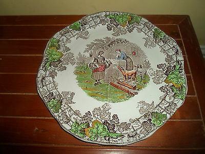Copeland Spode Byron Series 1, Four Section Vintage Tea Party Sandwich Plate