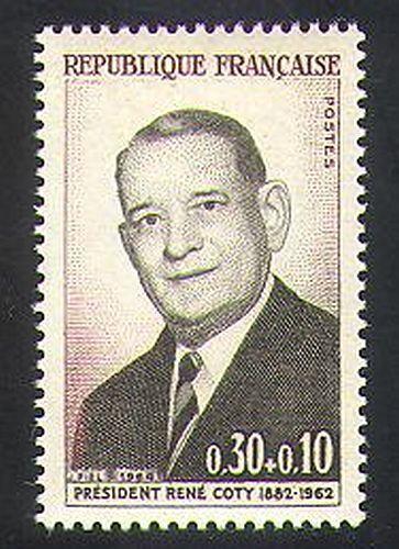France 1964 President Rene Coty/Politics/Statesmen/Politician/People 1v (n36937)