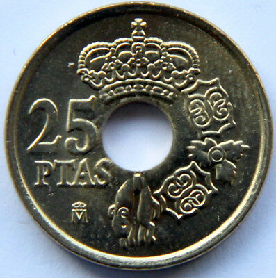 SPAIN JUAN CARLOS I 25 PESETAS 1995 KM-948 CASTILLA LEON MINT ROLL
