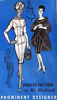 "1950s Vintage Sewing Pattern DRESS-JACKET B38/"" R384"
