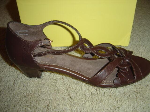 ANTIA Torrie Torrie Torrie Mocha Women's shoes Heels - Size 7.5 Slim Width Style A1012-038 NEW e2585a