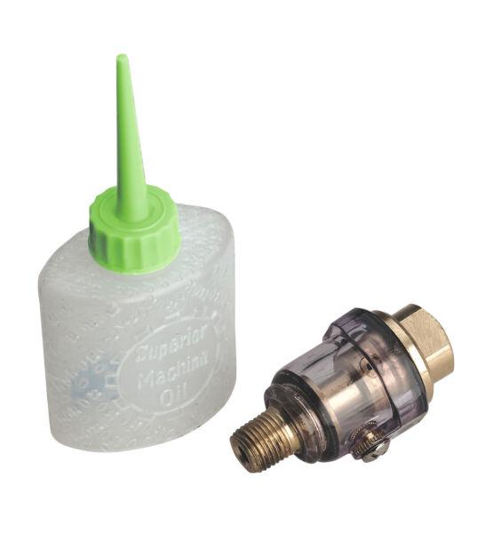 100% Kwaliteit New Sealey Air Tool On Gun Mini Inline Oiler + Filler/lubrication Bottle Sa111 Verkwikkende Bloedcirculatie En Stoppen Van Pijn