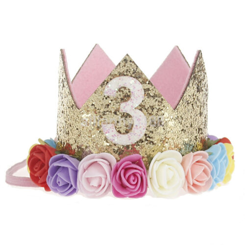 Latest Crown Flower Tiara Headband for Baby Kids Party Hair Bands Accessories US