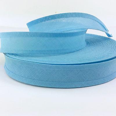 Sky Blue polycotton bias binding/ bunting tape 25mm wide per 5 metres