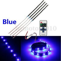 Motorcycle Blue Led Light Strip Wireless Remote Control For Harley-davidson Us