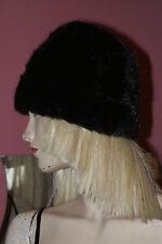 Damen Kunstfell Kunstpelz Mütze * Kappe dunkelbraun Gr. 56