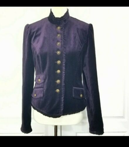 Chelsea & Theodore Velvet Military Victorian Jacke