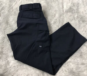5.11 Tactical Navy Blue Cargo Pockets Poly Cotton Uniform Work Pants Women's L