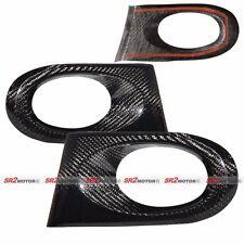 Real Carbon Fiber Fog Lamp Light Bezel Bumper Cover fits 02-04 Acura RSX