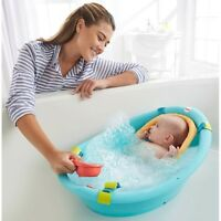 Fisher Price Bath Tub Baby Sling Cradle Toys Newborn Toddler Seat Bathing Water