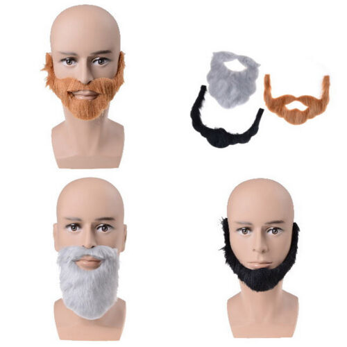 Fancy Dress Costume Party Halloween Costumes Fake Mustache Funny Beards CSH