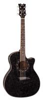 Dean Guitars Eqa Tbk Exotica Quilt Ash Acoustic-electric Guitar, Trans Black Glo