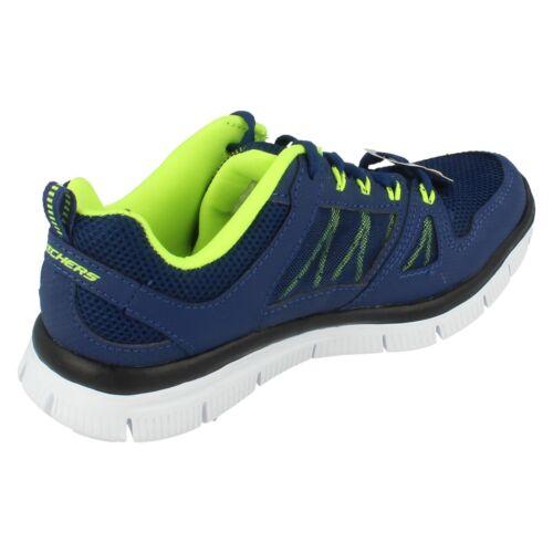 cordones entrenador revestimiento Advantage textil con Chaqueta ni con azul os Skechers para Flex wqXvHZz