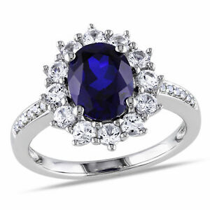 Amour-Sterling-Silver-Blue-and-White-Sapphire-Ring-with-Diamond-Accent