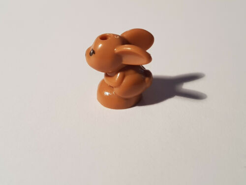 #FR53 MediumDarkFlesh Tier LEGO® 1 x 18852pb01 Hase mit schwarzer Nase 6194752