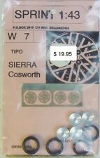 1:43 SPRINT43 W7 SIERRA Cosworth Pneu Reifen Tire Felge Wheel Set photoetched