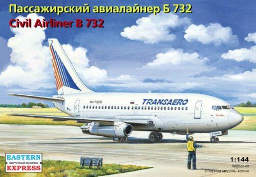 1//144 Eastern Express Boeing 737-200 Transaero Civil Airliner 14470