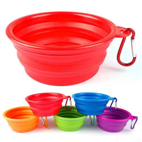 Collapsible Pet Travel Bowl Dog Food Water Feeding Bowl Dish Feeder Durable